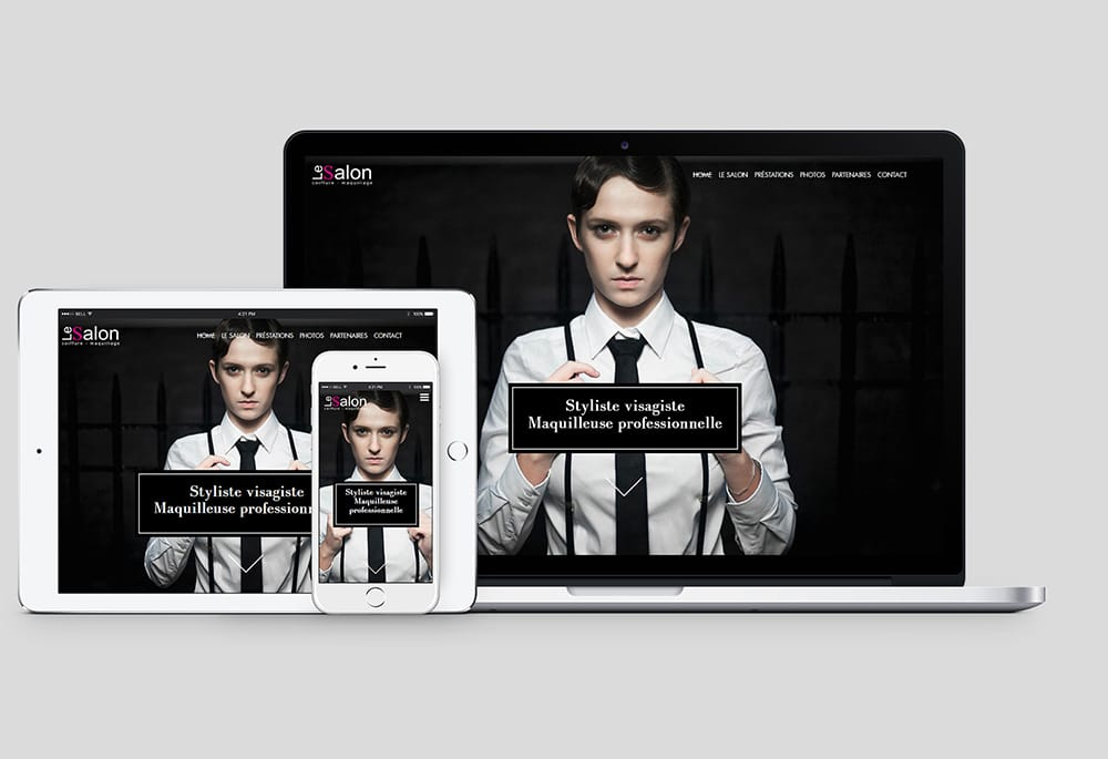 pc, tablette et mobile affichant le web design du site