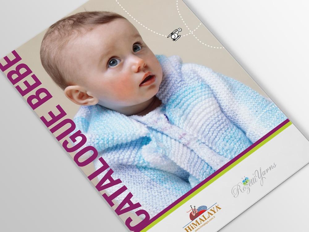 couverture d'une brochure avec un bébé en vêtement de laine